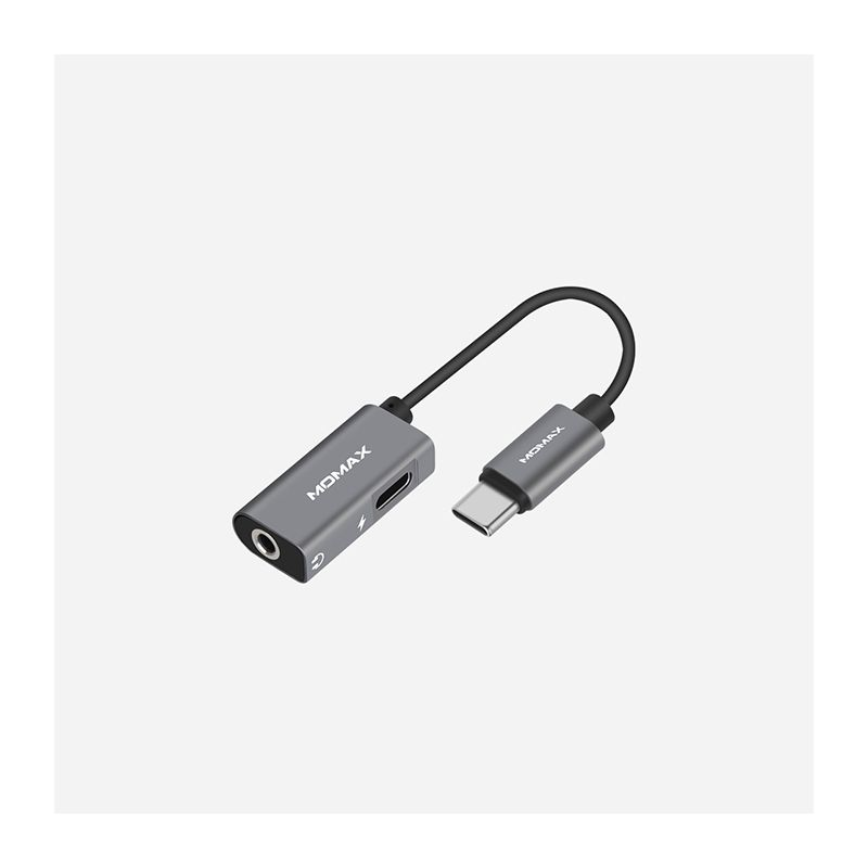 Momax USB-хаб One Link 2-in-1 Type-C to 3.5mm Headphone Adapter HT1